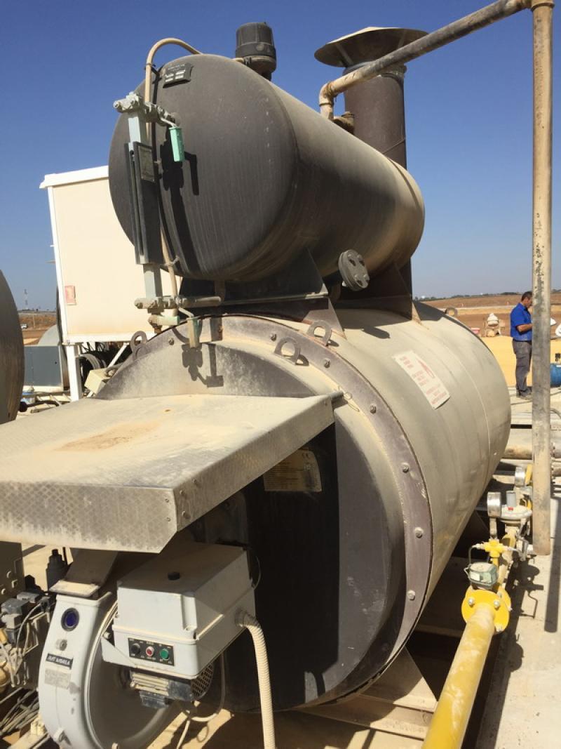 Septiembre 2015 | Instalación de caldera de vapor de 640 kw y compresor en planta de fabricación de aglomerado asfáltico en Carmona (Sevilla)