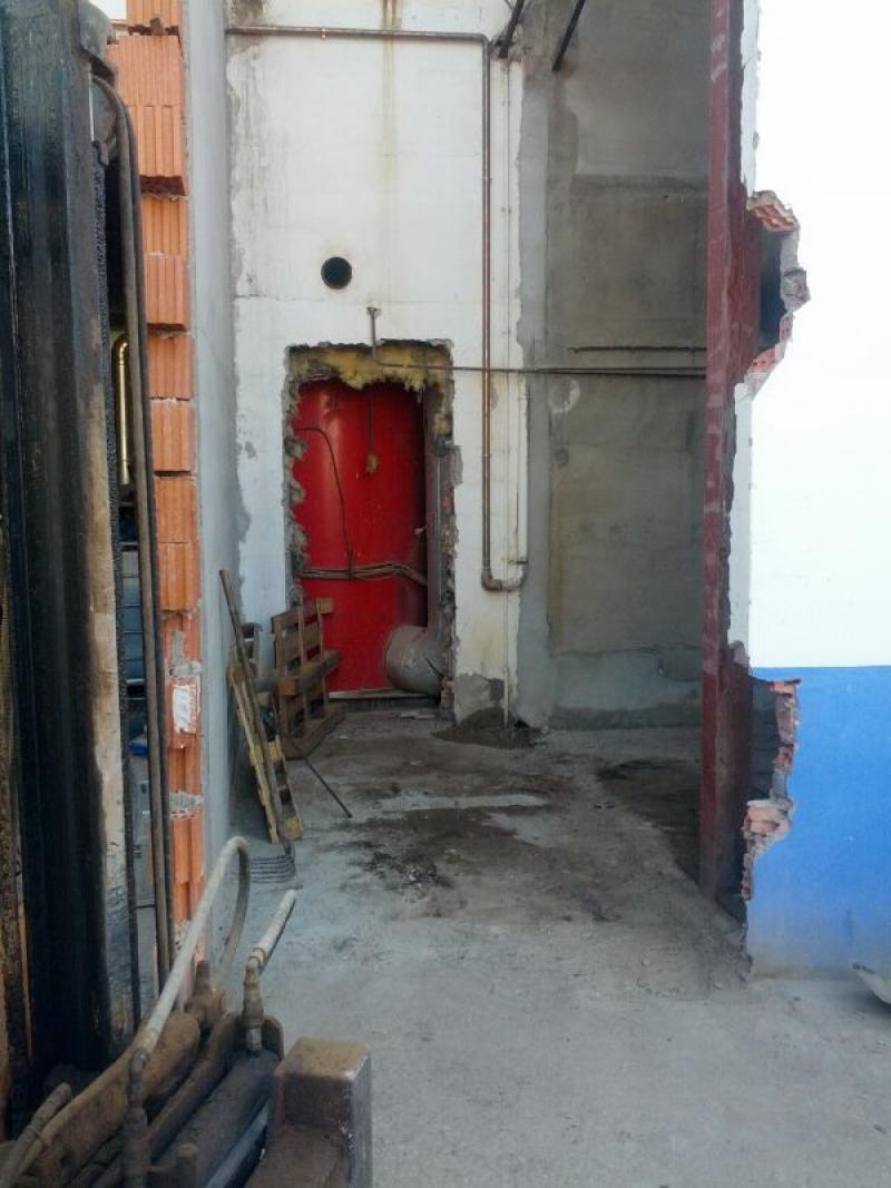 Diciembre 2014 | Inicio de Obra | Sala de calderas y cambio de combustible de caldera a gas natural en industria de fabricación de patatas