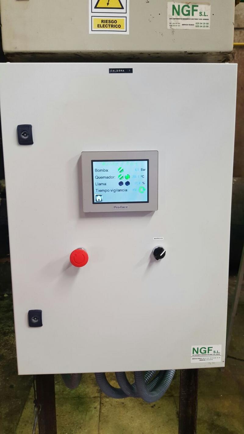 Noviembre 2015 | Sustitución de cuadro por cuadro con autómata y pantalla táctil para control de caldera