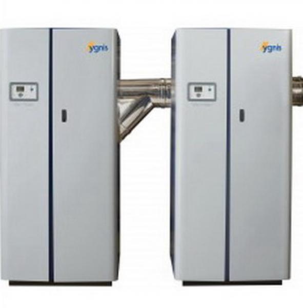 Agua caliente | Caldera de pie de condensación a gas | Modelo Varmax Twin